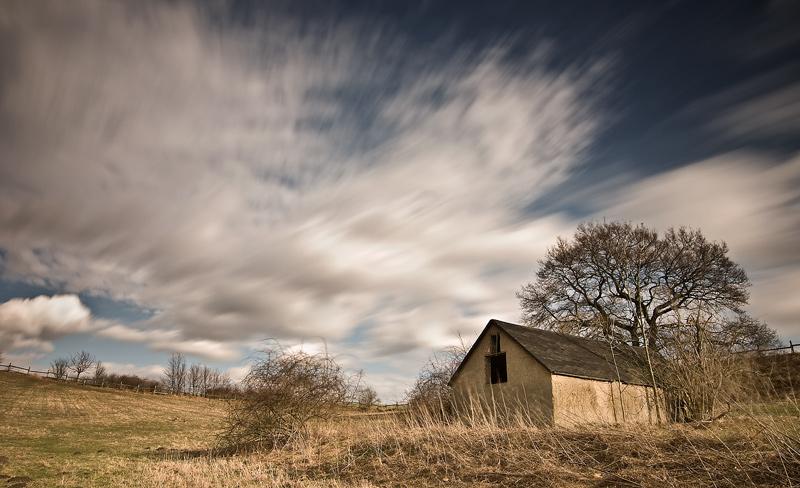 hut seeben long exposure feldauge clouds spring