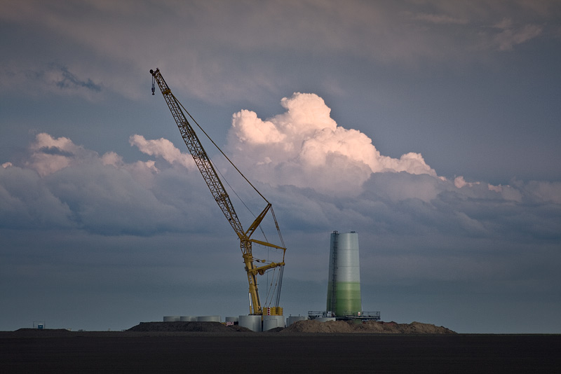 pylon building site crane sky cloud domnitz feldauge saalekreis