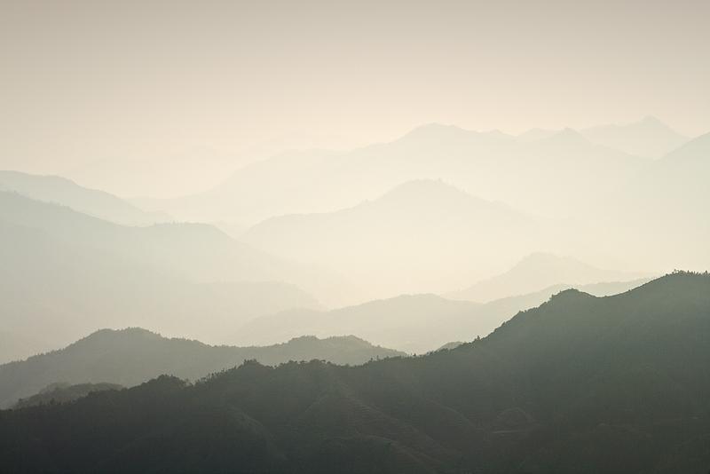 mountains distant feldauge china Gutianshan