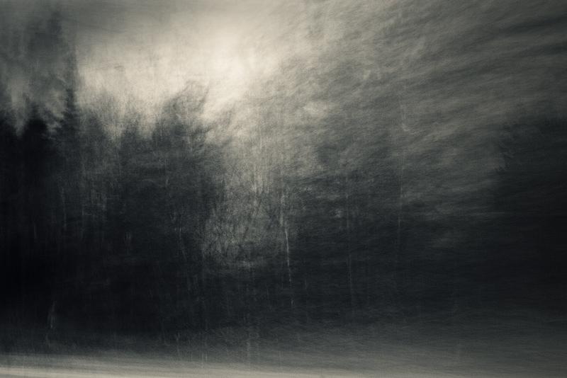 inner landscape blur B&W feldauge winding path