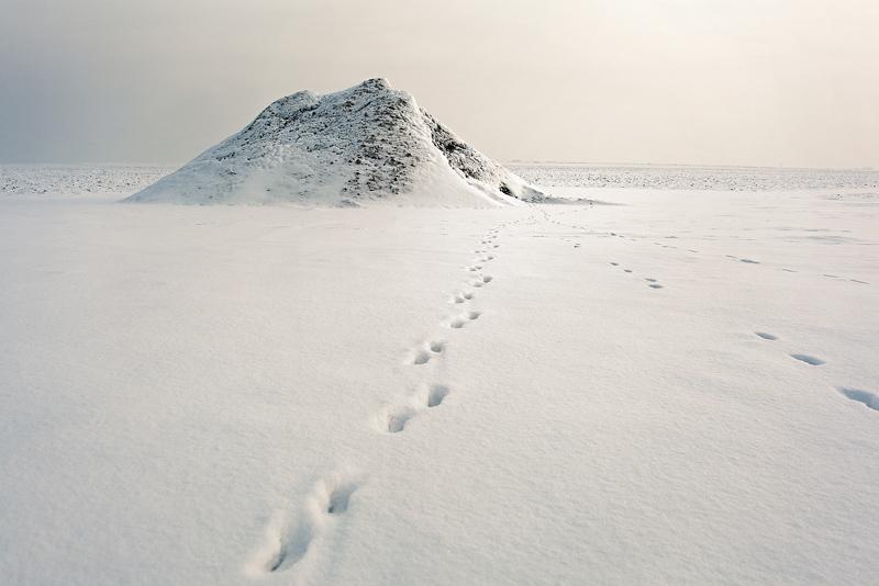 weisser berg domnitz schnee spuren